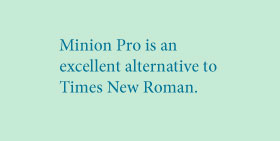 Minion Pro vs. Times New Roman