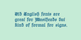 Old English Fonts