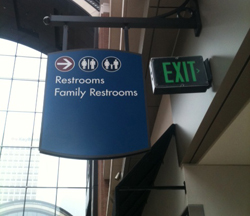 Wheres The Bathroom Tips For Directional Signage Signscom Blog - Bathroom directional signs