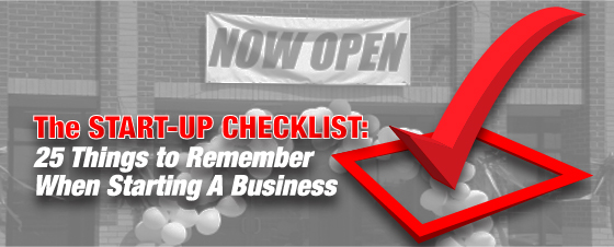 Start Up Checklist 25 Steps To A Small Business Signs