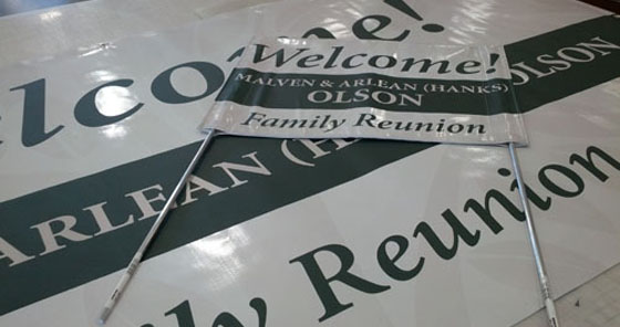 Family Reunion Signage