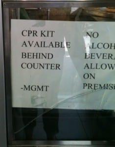CRP Kit Sign