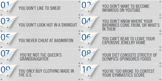 Top Signs You'll Never Make It To The Olympics