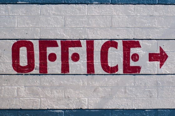 Office Hand Painted Sign