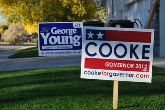 Cook Young election signage