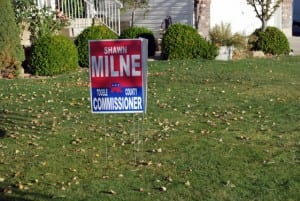 Milne Election Signage