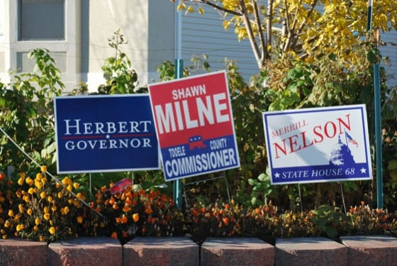 Herbert Milne Election Signage