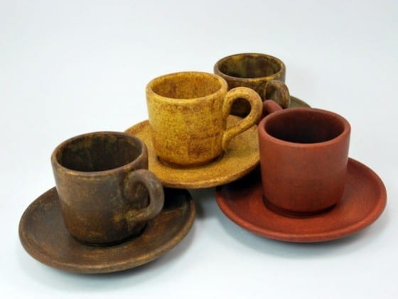 Tiny Java Stoneware Finish Cups