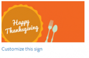 Thanksgiving Sign #1