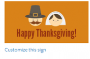 Thanksgiving Sign #3