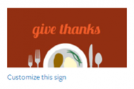 Thanksgiving Sign #5