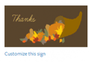 Thanksgiving Sign #6