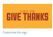 Thanksgiving Sign #9