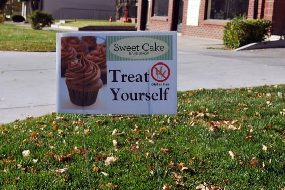 Yard Sign Sweet Cake
