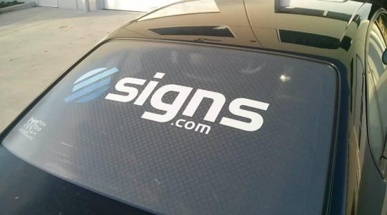 Perforated Car Window Decal