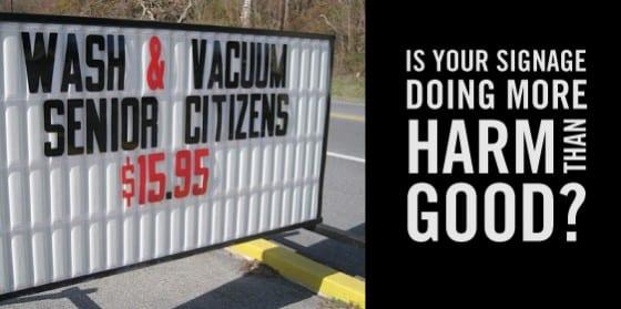 harmful signage