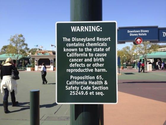 warning signs disneyland