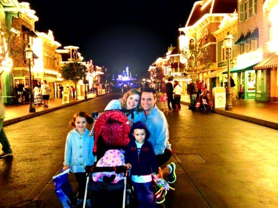 nelson james and family in disneyland