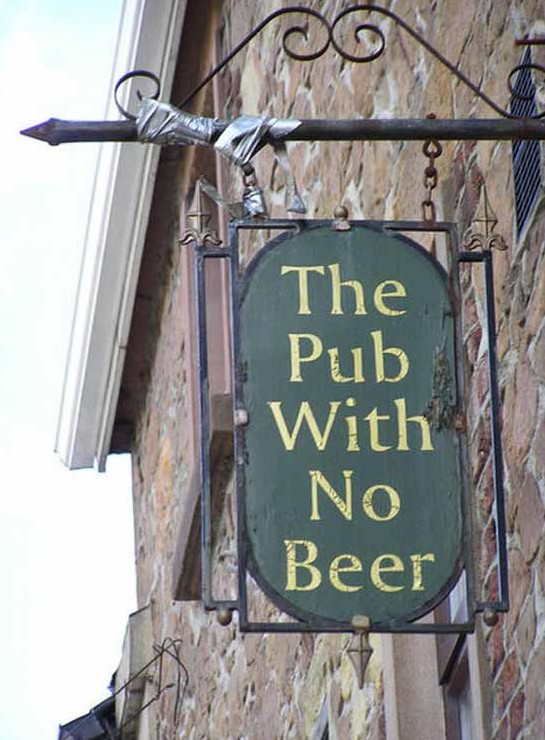 pub no beer