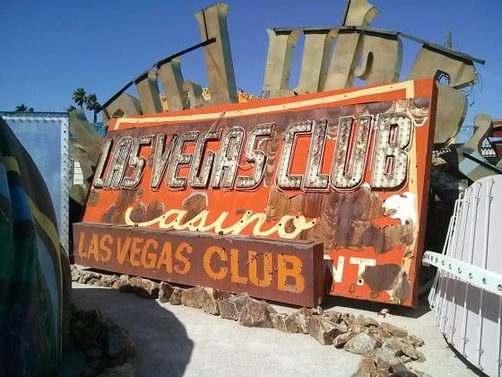 Las Vegas Club Sign