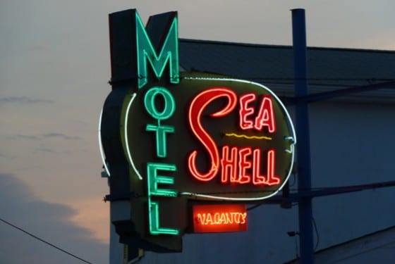 Sea Shell Motel Sign