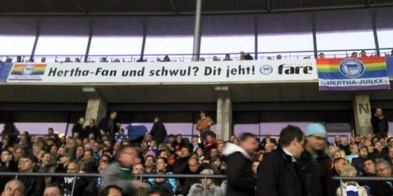 Hertha Berlin Sports Club signage. Courtesy FARE Network.