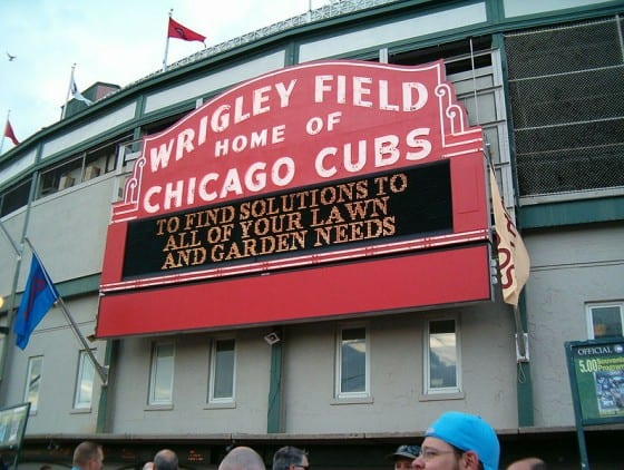 Wrigley Field Main Entrance Marquee