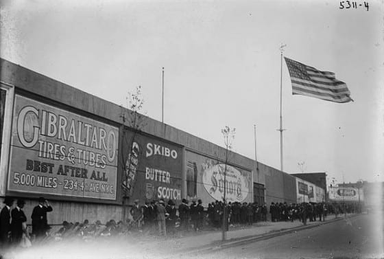 Advertising at Ebbets Field 1920