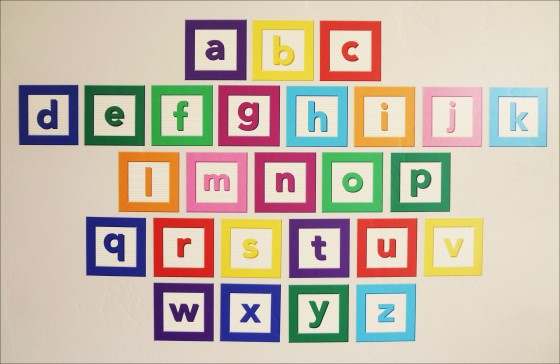 alphabet set wall decal