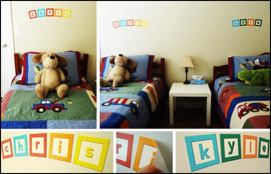 wall decals of kids names