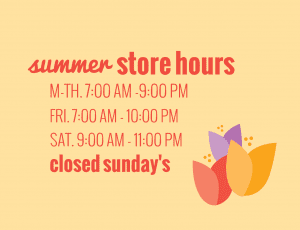Spring Cling Store Hours