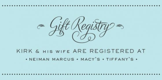 renewing our gift registry