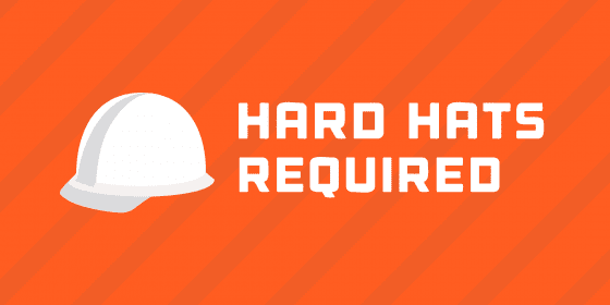 Hard-hats-required