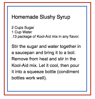 Homemade Slushy Syrup