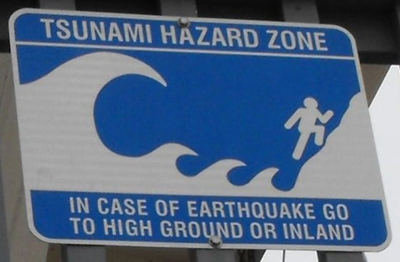 Tsunami-hazard-zone