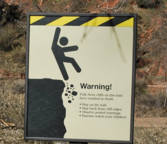 Warning-cliff