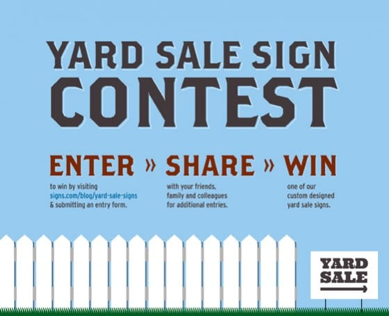 Yard Sale Sign Contest