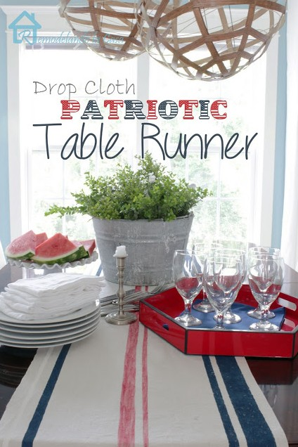 drop cloth patriotic runner2mn