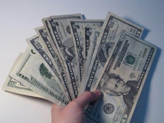 yard sale cash