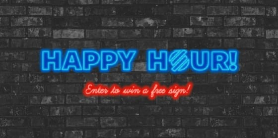Signs.com Happy Hour