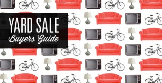 Yard Sale Buyer's Guide
