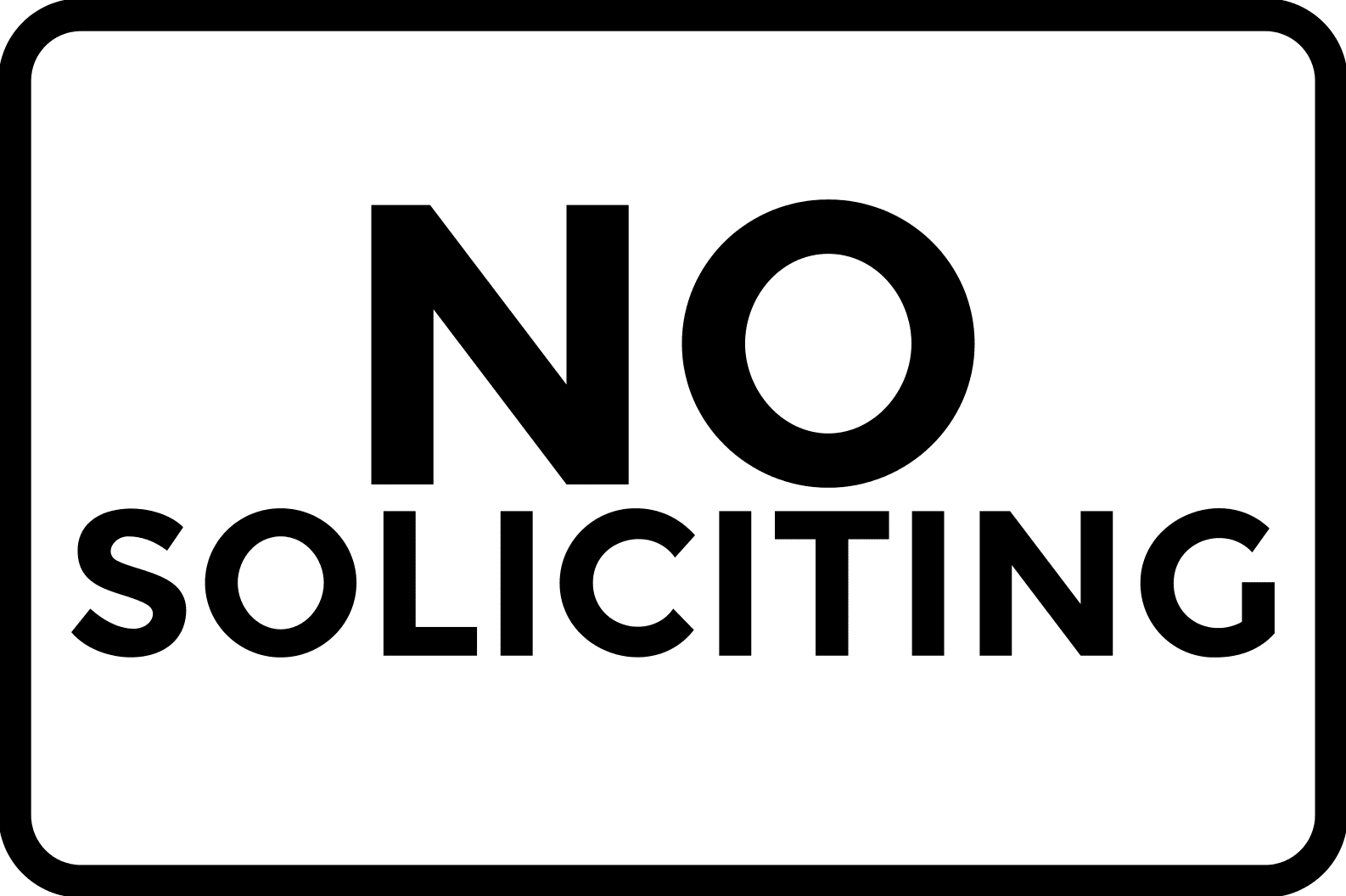 no soliciting simple