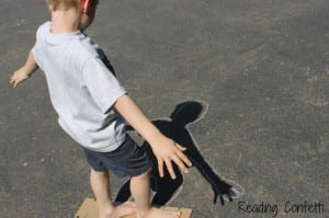 shadow chalk art