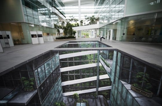 indoor glass office