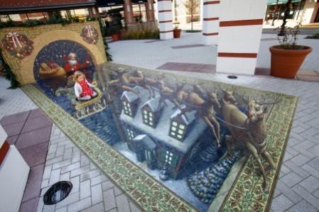 santa over house