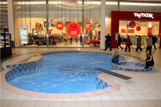 swimming pool in mall