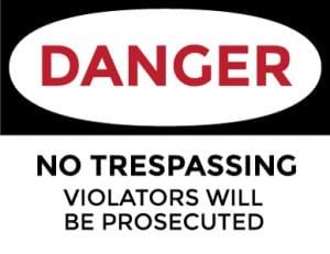 danger no trespassing generic