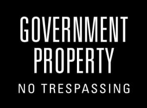 government property no trespassing generic
