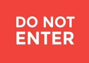 wisconsin do not enter sign