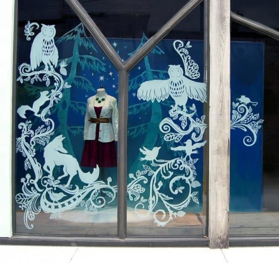 retail window decal for holidays